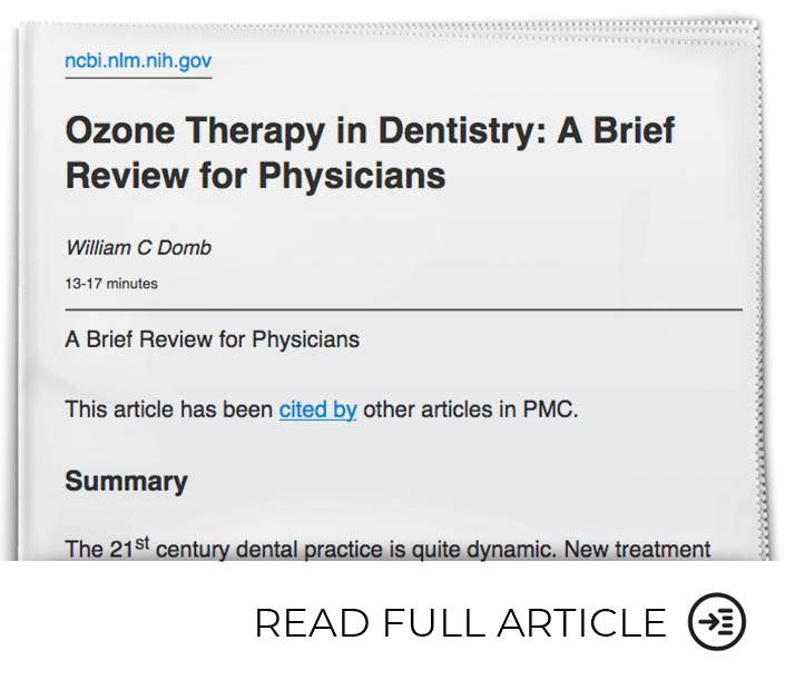 Dental Infections Respond to Treatment with Ozone