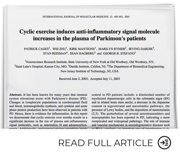 Cyclic Exercise Benefits Parkinson's Patients