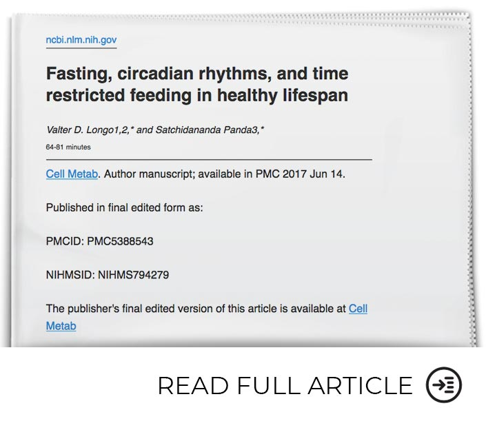 Fasting Positively Impacts Many Disease Risk Factors
