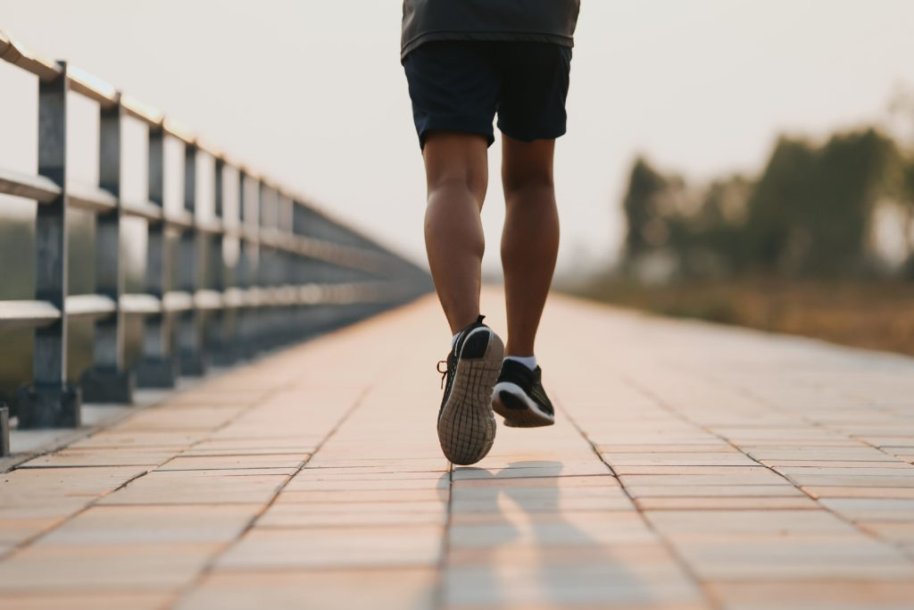 Health person running